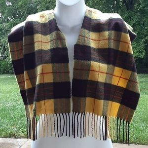 Other - Comfortable Yellow Plaid Scarf With Fringes